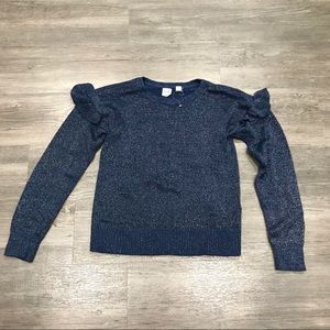 Gap Kids Shimmer Ruffle Sweater